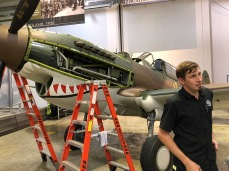 A mechanic (forget his name) who was working on the engine in this P40. Very interesting.